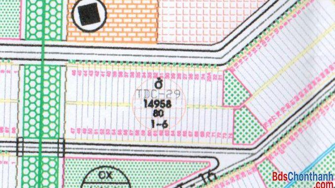 Bán đất tái định cư Becamex cụm tdc 29