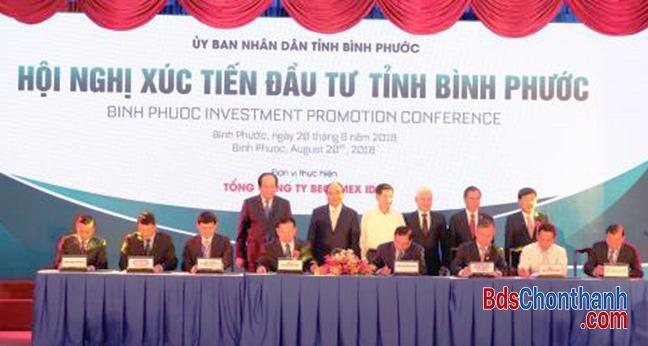 Lễ ký kết hợp tác giữa Sacombank và Becamex Bình Phước