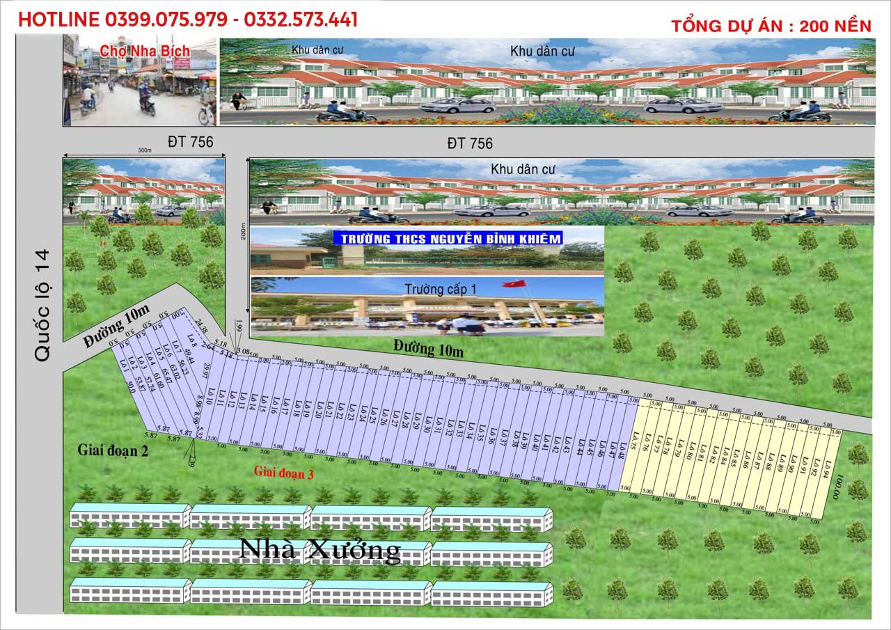 Bán đất dự án đối diện trường học Nha Bích