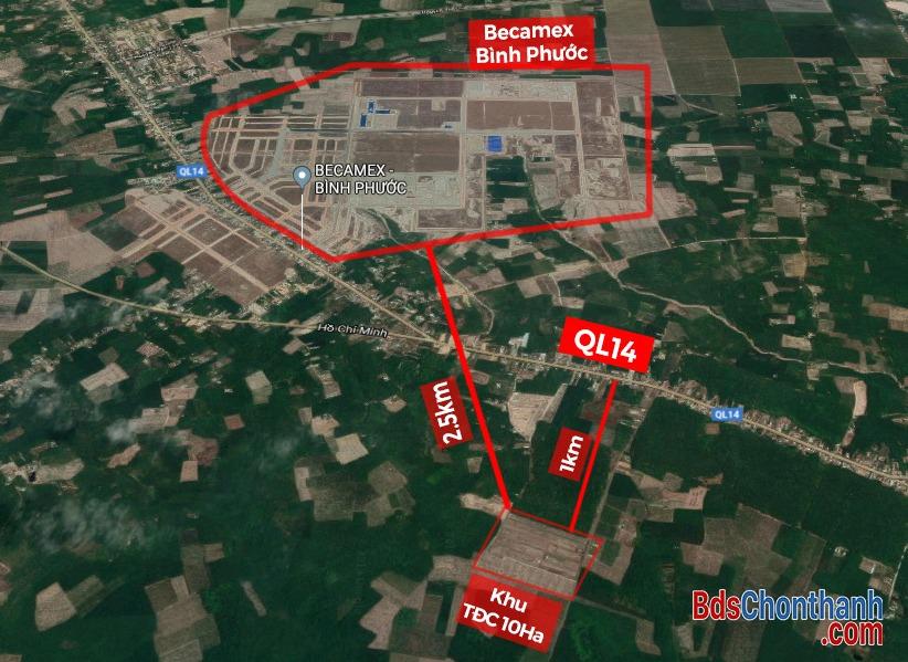 Bán đất tái định cư 10ha xã Nha Bích Chơn Thành Bình Phước