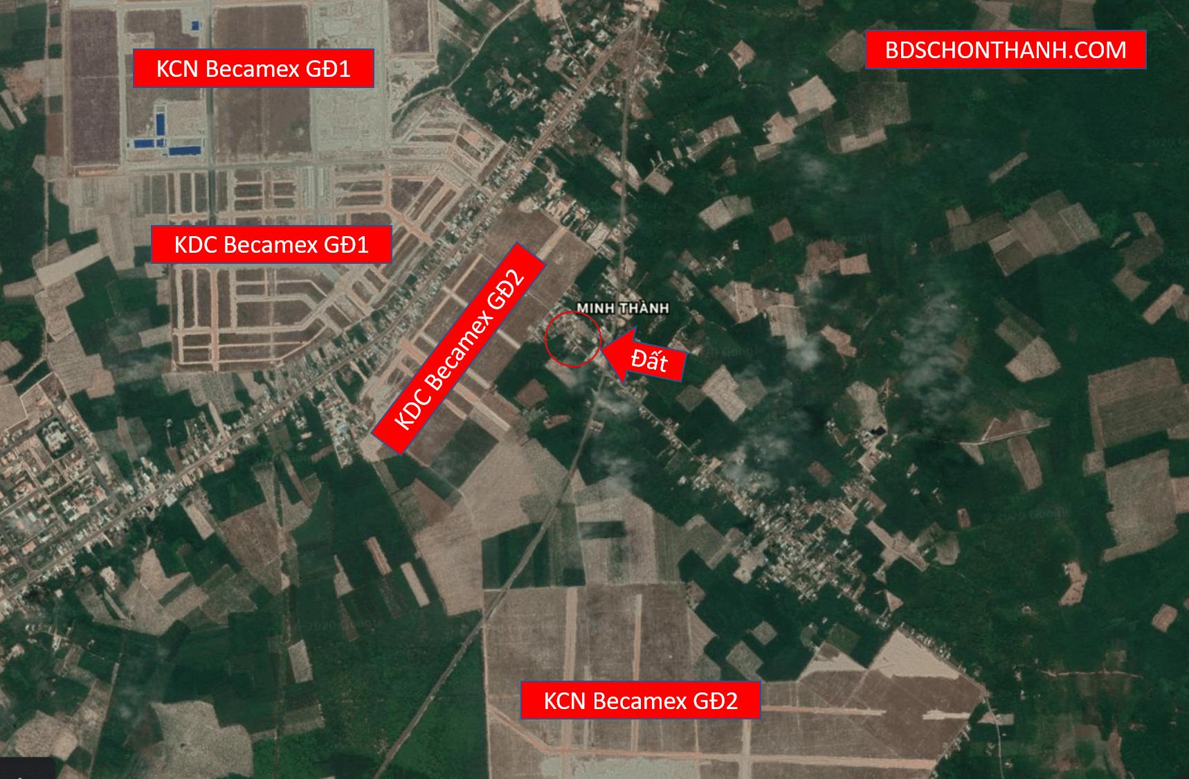 Bán đất đường DH516 hướng Minh Thành - An Long