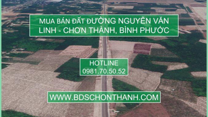 Mua bán đất đường Nguyễn Văn Linh Chơn Thành Bình Phước