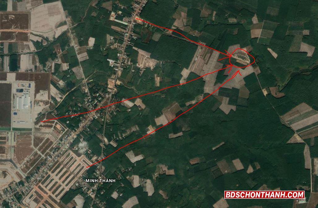 Vị trí đất nằm gần các khu công nghiệp, khu tái định cư