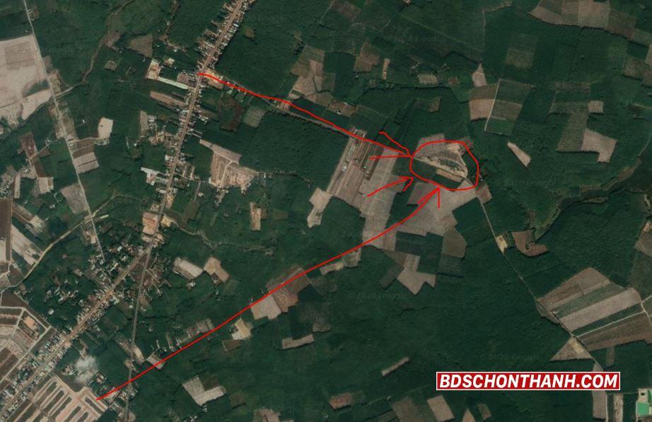 Ảnh khu đất nhìn từ vệ tinh
