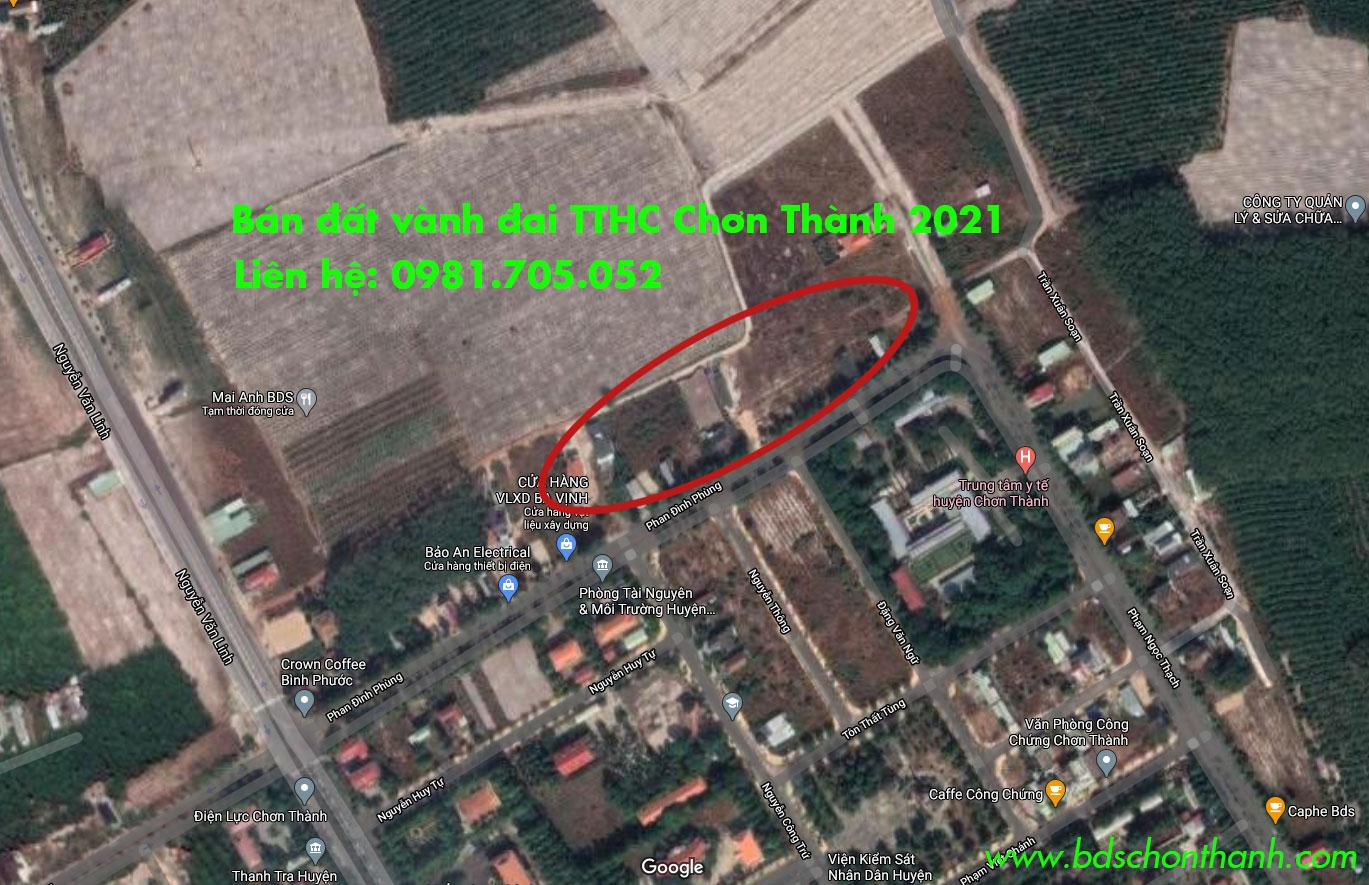Bán đất gần trung tâm hành chính chơn thành