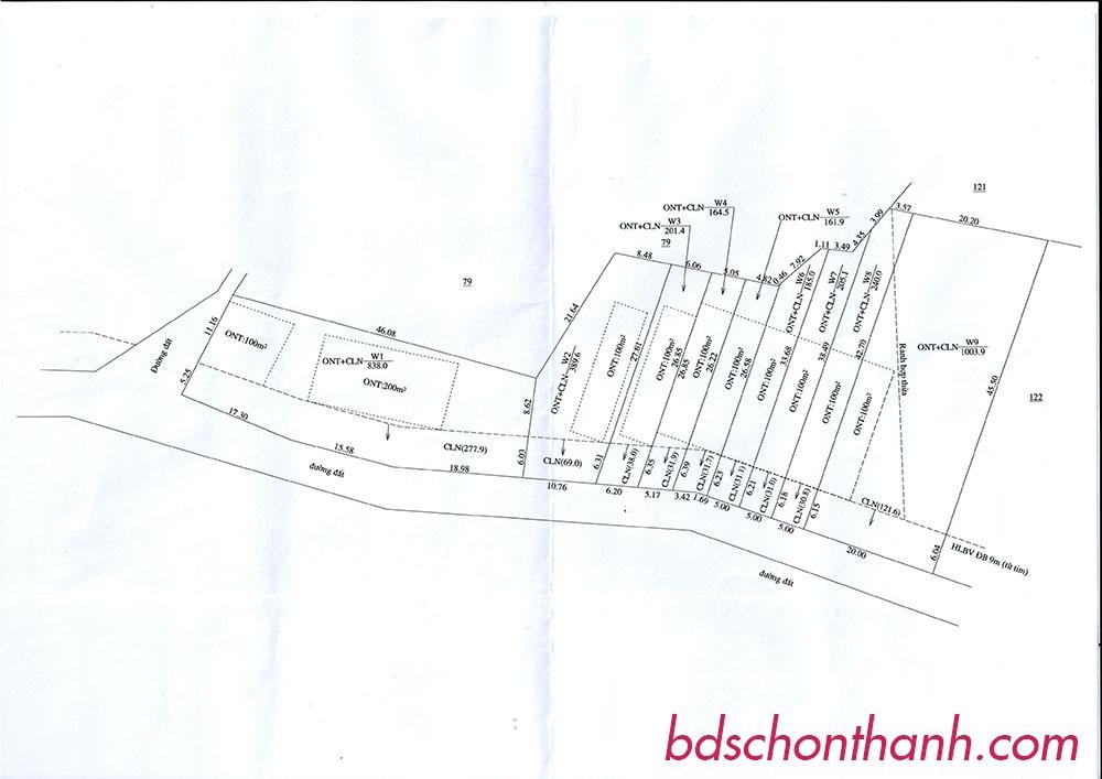 Sơ đồ Dự án đất nền mới tại Chơn Thành, Bình Phước