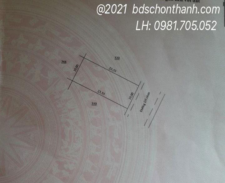 Sổ hồ mặt sau lô số 6, cụm N6, khu tái định cư ấp Suối Ngang